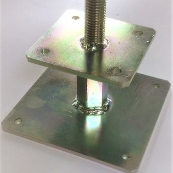 Adjustable post base top plate- 100 x 100 suitable for post size 125 x 125- code: APB2-TP