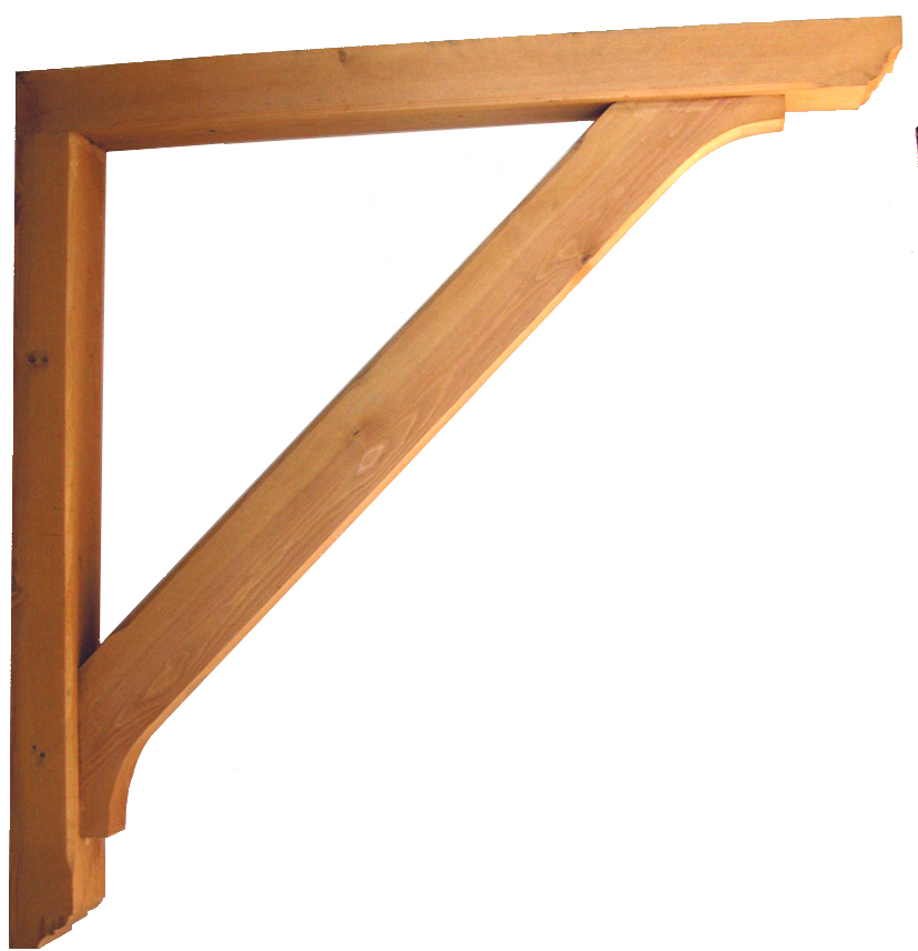 Heavy DutyTimber Gallows Bracket 1200mm Projection Code - F-SG125-13-T