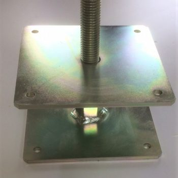 Adjustable post base top plate- 150 x 150 suitable for post size 175/200 x 175/200 code: APB4-TP