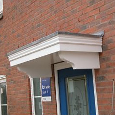 Ashton Wooden Door Canopy Width 1490mm x Projection 690mm to receive lead work  - FA4L