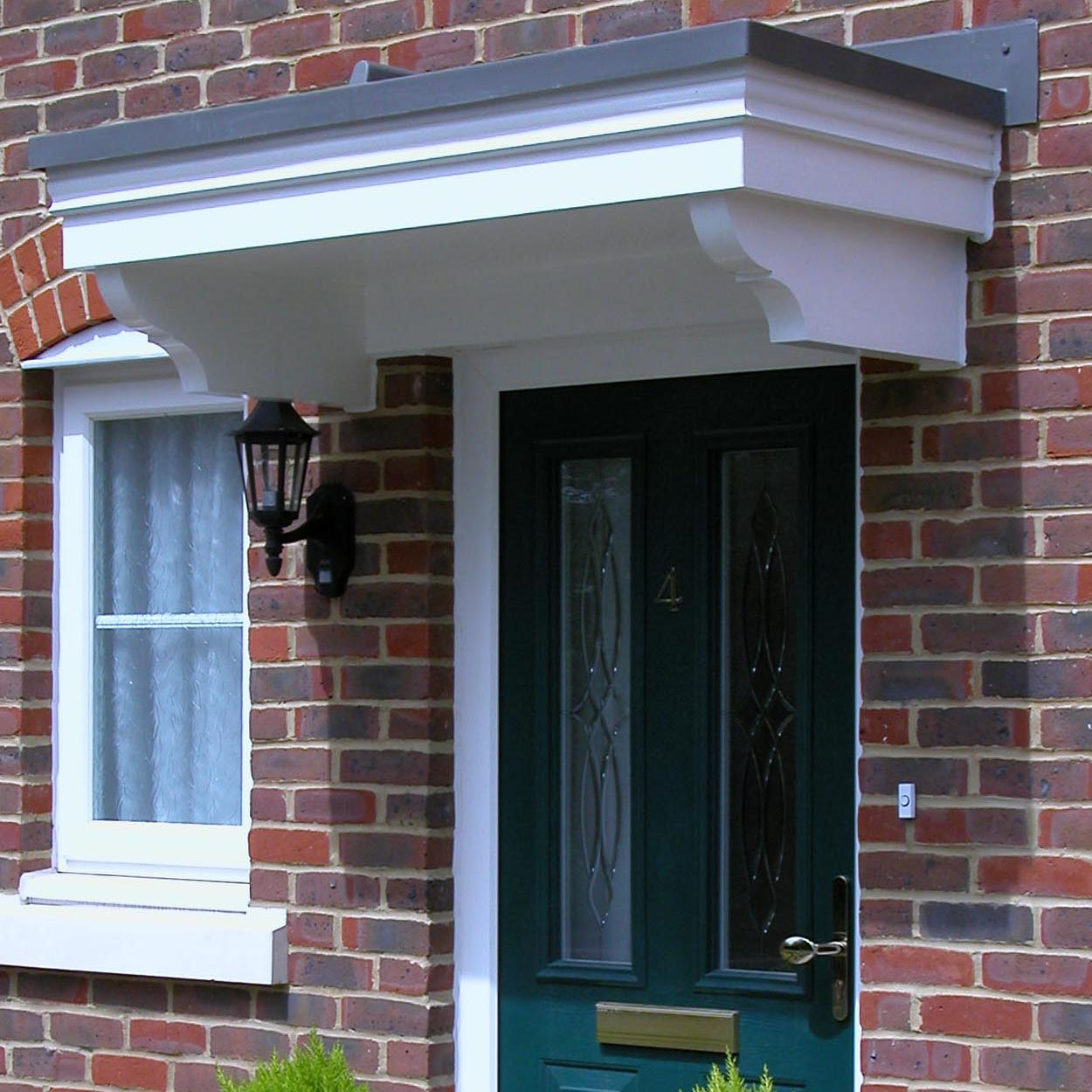 Ashton Wooden Door Canopy with lead look GRP roof  Width 1490mm x Projection 700mm - F-A4G
