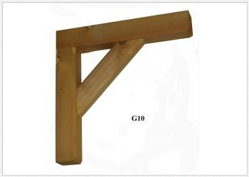 Timber Gallows Bracket 450mm Projection SWL111kg - F-G10